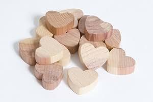 Caraselle - Petits cœurs en bois de cèdre - lot de 15