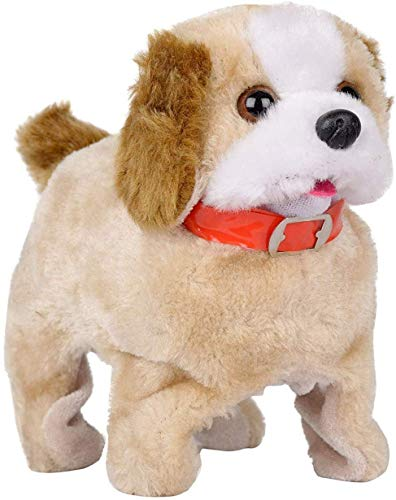 HRK Battery Operated Dog Fantastic Jumping Walking Barking & Jumping Puppy That Flips Over Toy Best for Toddlers and Kids / Baby's Playing and Games / Gifts for Kids Birthday Party