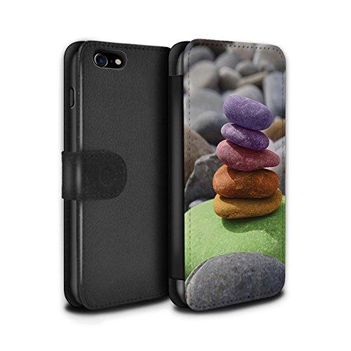Stuff4 Coque/Etui/Housse Cuir PU Case/Cover pour Apple iPhone 5/5S / Bouddha de Pierre Design / Paix Intérieure Collection Équilibrage Pierres