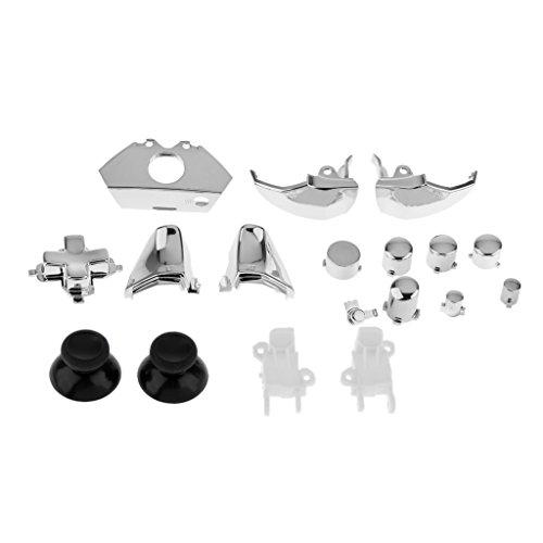 Generic Ensemble de 18 Remplacement Boutons du Contrôleur Kit pour Xbox One - Argent