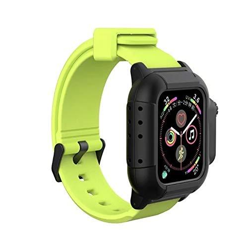 Leoie Wasserdichtes Uhrenarmband Schutzhülle für iWatch 4 Smartwatch-Armbänder 40 mm 44 mm Silikon Band Ersatzarmband Smart Watch Zubehör