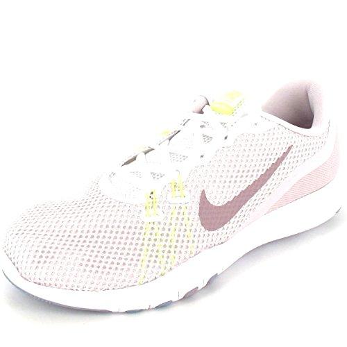 Nike Damen Trainingsschuh Flex Trainer 7 Laufschuhe, Mehrfarbig (White/Elemental Rose 104), 42.5 EU (Nike Schuhe Flex Trainer)