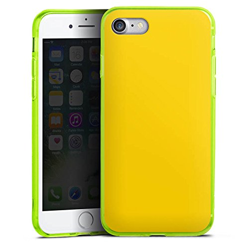 Apple iPhone 8 Silikon Hülle Case Schutzhülle Gelb Sonnengelb Frühling Silikon Colour Case neon-grün