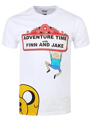 T-shirt Adventure Time Finn et Jake coton blanc - M
