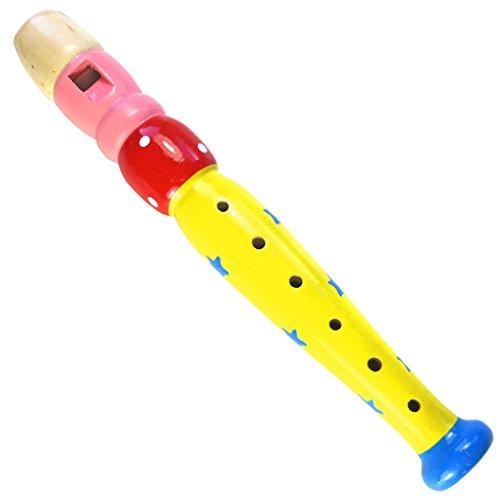 keepdrum KFL2 YW Flöte aus Holz Musikspielzeug für Kinder Gelb