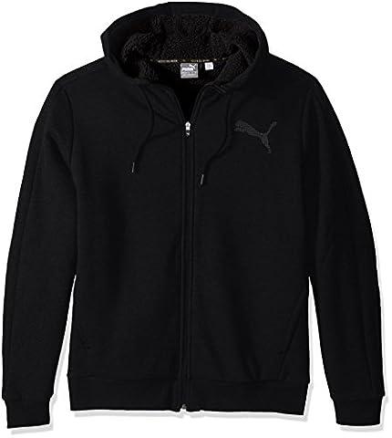 PUMA Men's Sherpa Full Zip Hoody, Cotton Black, Small
