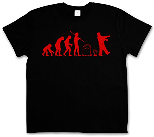 ZOMBIE EVOLUTION BLACK T-SHIRT - Horror Biters The Walking Shirt Dead Walkers Living Zombi Taglie S - 5XL