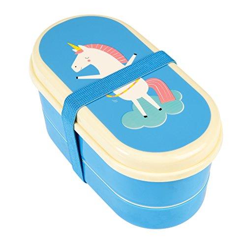 Rex International Bentobox Lunchbox + Besteck klein Motiv Einhorn Unicorn