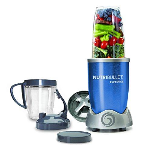 NutriBullet NBR-0928-B - Extractor de nutrientes original con recetario en Español, 600 W 20.000 rpm, color azul