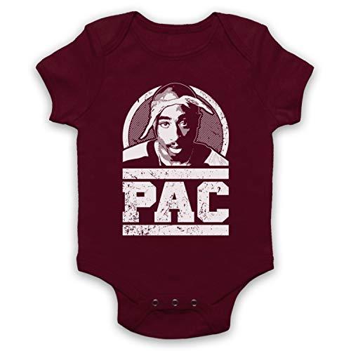 The Guns Of Brixton Tupac 2Pac Pac Tribute Babystrampler, Burgund, 12-18 Monate
