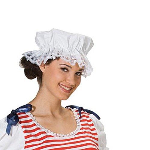 weiße Badehaube (Personen Historische Kostüme)