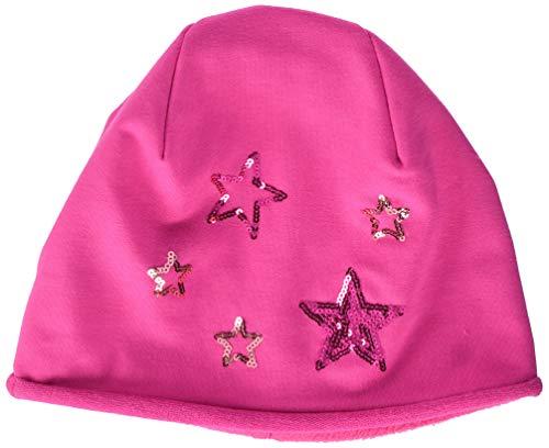 maximo Mädchen Mütze 83503-867400, Beanie, Jersey mit Futter, Sterne, Pink...