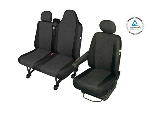RENAULT MASTER 3 Sitzbezüge Sitzschoner Set Fahrersitz + Doppelbank (ganze Sitzfläche)