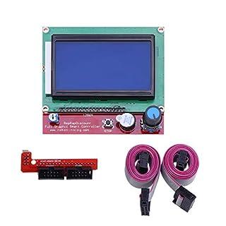 UEETEK LCD 12864 Intelligent Anzeigen Bildschirm Regler Modul mit Kabel für RAMPS 3D Printer Kit Zubehör