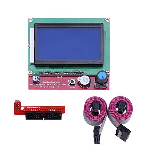 UEETEK LCD 12864 Intelligent Anzeigen Bildschirm Regler Modul mit Kabel für RAMPS 3D Printer Kit Zubehör Lcd-display-kit