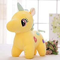 Tickles Yellow Super Soft Plush Cute Unicorn Soft Stuffed for Kids Infants 35 cm
