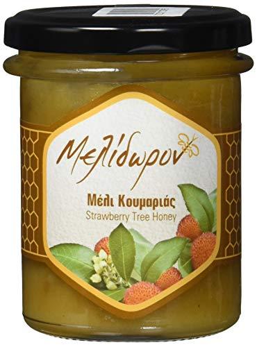 Melidoron Roher Griechischer Erdbeerbaum Honig, 1 Pack (250 g) (Griechischer Reiner Honig)
