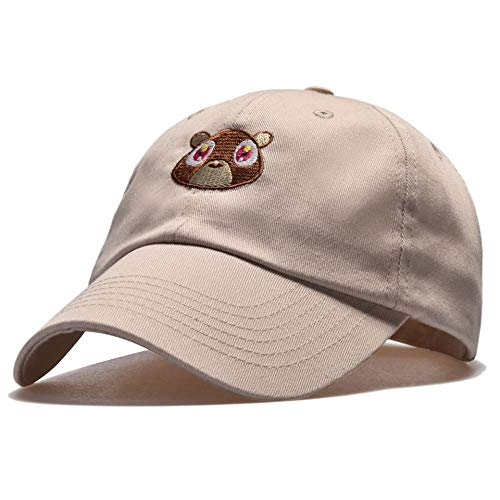 zhuzhuwen Cap weiblichen Baseballmütze Kappe Sonnencreme Sonnenbär Bestickt Hut 1 einstellbar
