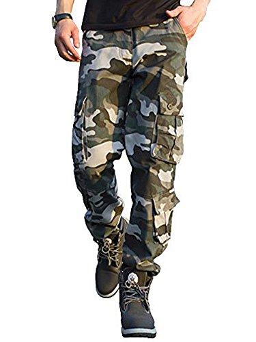 TAIPOVE Uomo Pantaloni Cargo Pantaloni Tattici MilIT Ari Uomo Pantaloni da Lavoro Uomo per Uso Stagioni Casual, Sport, Viaggio di Cotone Grigio 40