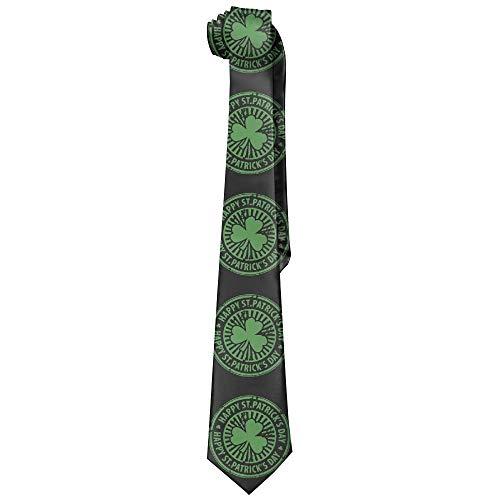 Men's Classic Casual Clover Patrick's Day Skinny Silk Tie Necktie Fashion Gift Weddings Gentleman Groom Business Patrick Woven Tie