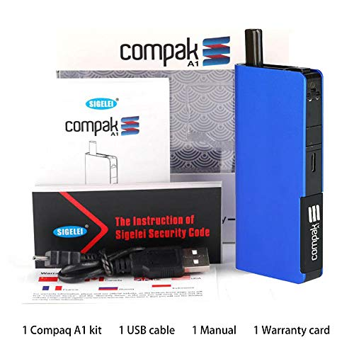 Elektronische Zigarette Starter Kit SIGELEI Compak A1 Vape Eingebaute 1100mAh Batterie, keine E-Flüssigkeit, kein Nikotin (blau)