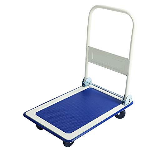Küchenwagen Faltbarer Handwagen, Solider Allzweckwagen für Gepäck, Personal, Reise, Auto, Umzug und Büro