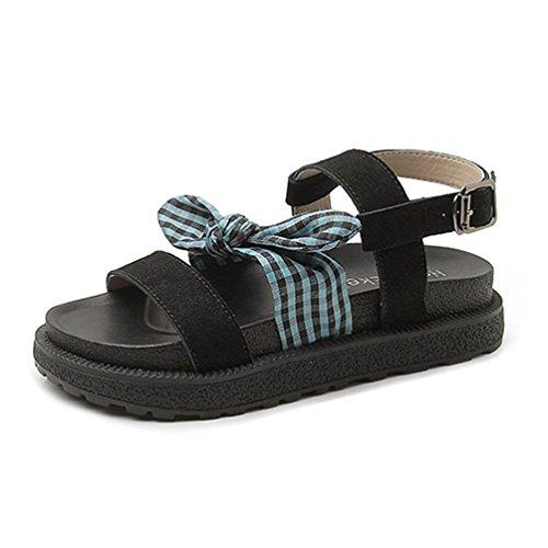 Frauen Sandalen Plateau Komfort Zehenoffenen Schnalle Ankle Strap Dicken Boden Keil Sandale