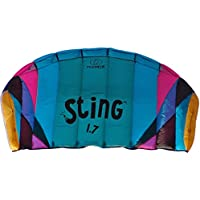 Flexifoil 1.7m2/2.2m Wide Sting 4-Line Power Kite with 90 Day Money Back Guarantee! By World Record Winning Power Kite Designer - Safe, Reliable and Durable Family Orientated Power Kiting, Kite Training and Introductory Traction Kiting