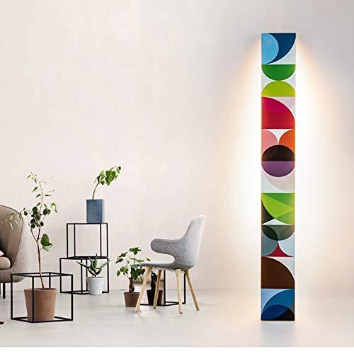 AOKARLIA Stehlampe Wohnzimmer Modern LED Stehleuchte, Classic Standleuchte, Stimmungslicht, Warmes Licht Dekoratives Massivholz Wirtschaftliche Stehlampe für Wohnzimmer, Schlafzimmer, Büro,C,180LEDs -