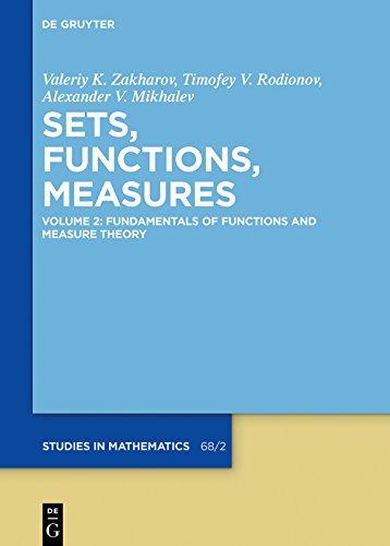 Fundamentals of Functions and Measure Theory (De Gruyter Studies in Mathematics) (English Edition)