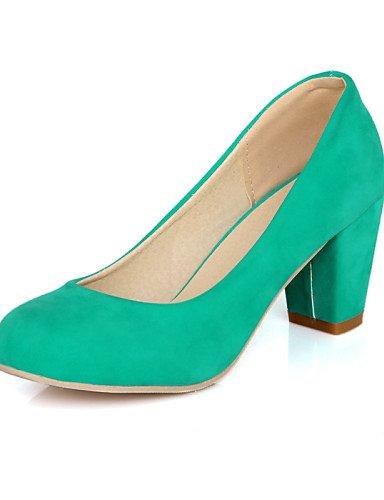 WSS 2016 Chaussures Femme-Décontracté-Noir / Bleu / Beige-Gros Talon-Talons / Bout Arrondi-Talons-Similicuir blue-us10.5 / eu42 / uk8.5 / cn43