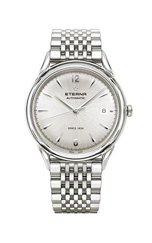 Eterna Heritage 1948 Gent Automatik Uhr, SW 300-1, 40mm, Silber, 2955.41.13.1741
