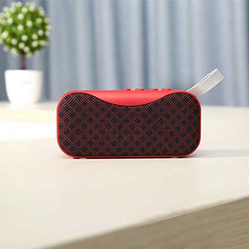 YSCYLY Mini Bluetooth Lautsprecher Tragbare Drahtlose Lautsprecher Sound System Freisprecheinrichtung Unterstützung Bluetooth TF AUX USB Eingebautes Mikrofon,Red
