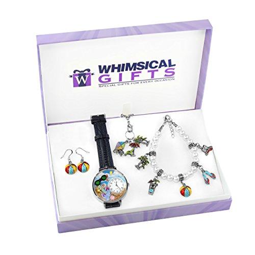 whimsical gifts - Juego de joyería de interés Especial (Verano Divertido, Plata)
