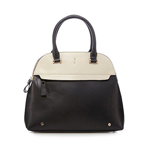 j-by-jasper-conran-womens-black-colour-block-three-compartment-dome-bag