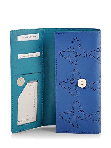 Butterflies Women's Wallet (Blue) (BNS 2383BL)