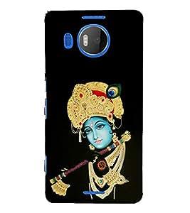 FUSON Krishna Playing Basuri 3D Hard Polycarbonate Designer Back Case Cover for Microsoft Lumia 535 :: Microsoft Lumia 535 Dual SIM :: Nokia Lumia 535
