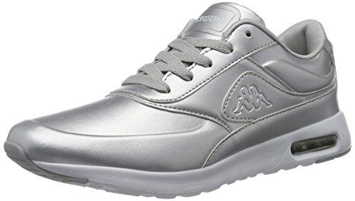 Kappa Damen Milla Shine Sneaker, Silber (1510 Silver/White), 39 EU