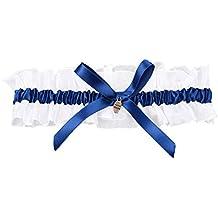 Cikuso Giarrettiere Fiocco Raso da Sposa Cerimonia Nuziale Fiori Blu Reale 09825e323995