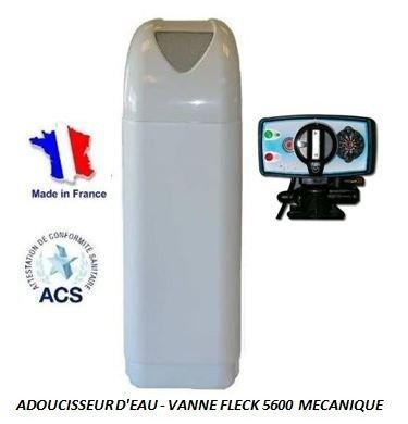 Adoucisseur d'eau 16L Fleck 4600 MC eau chaude