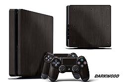 PS4 Slim Console + Controller Skin - Darkwood