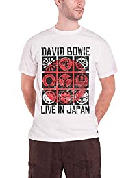 David Bowie 'Live In Japan (White)' T-Shirt