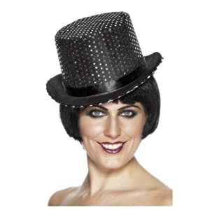 ADULT WOMENS SEQUINNED TOPPER HAT 1920