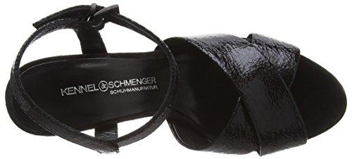 Kennel und Schmenger Schuhmanufaktur Damen Vichy Knöchelriemchen Schwarz (schwarz/schwarz 300) SJMA1b