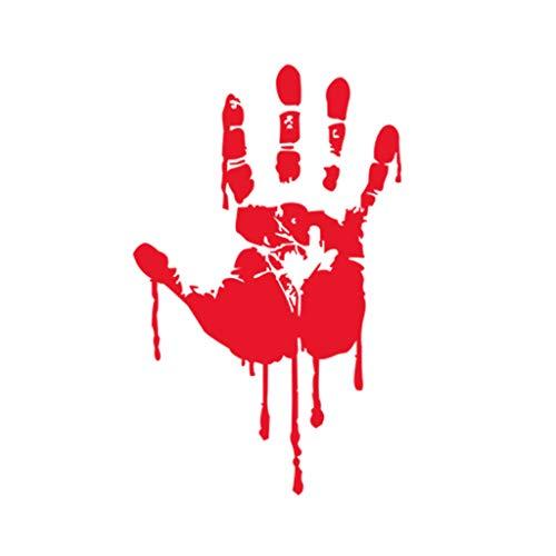 n Blut Tropfen Rot Handabdruck Wandaufkleber Horror Graffiti Urlaub Dekoration Aufkleber ()