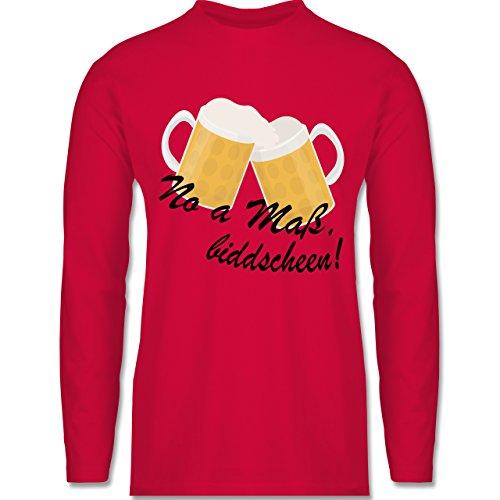 Oktoberfest Herren - Oktoberfest - No a Maß, biddscheen! - Longsleeve / langärmeliges T-Shirt für Herren Rot
