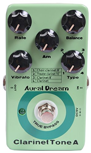 Aural Dream Clarinet Tone A Synthesizer Guitar Effects Pedal including choir clarinet 8',clarinet 8',theater clarinet 16' and clarinet with vibrato module control