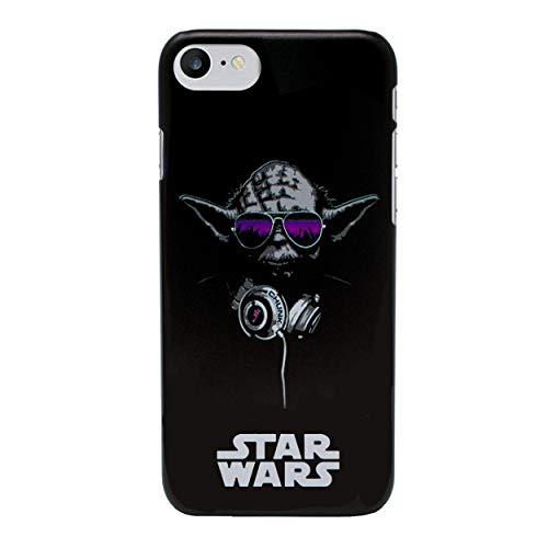 r Wars Case Handyhülle für Apple iPhone 8 Plus mit Schirmschutz/Harte Rücken/Yoda Kopfhörer ()