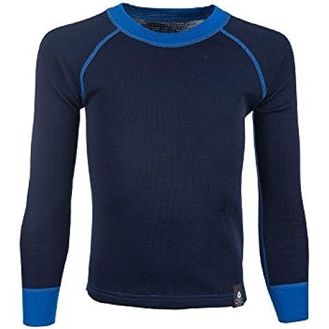 Mountain Warehouse Camiseta de lana de merino con cuello redondo para niños