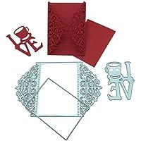 Troqueles de Corte, Culater Scrapbooking Plantillas Troquelado Kit, aplicar para Sizzix Big Shot/Cuttebug y otro Embossing Máquina (A)